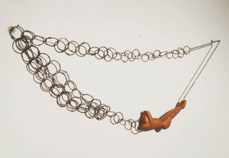 55_reclining wood figure necklace